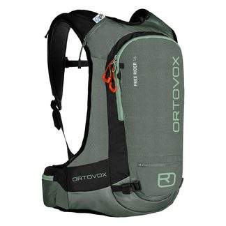 ORTOVOX - Free Rider 16 Ski Backpack green forest