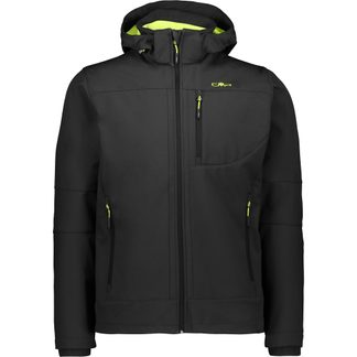 CMP - Zip Hood Softshell Jacket Men antracite yellow