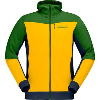 Norrona - Falketind Warmwool2 Stretch Zip Hood Herren lemon chrome treetop