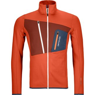 ORTOVOX - Fleece Grid Jacket Men desert orange