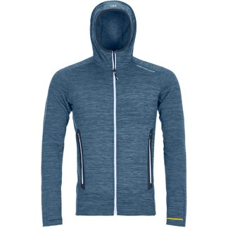 ORTOVOX - Fleece Light Melange Hoody Men night blue blend