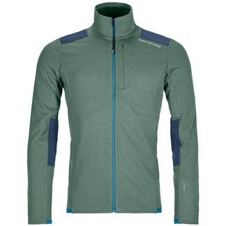 ORTOVOX - Fleece Light Grid Jacket Men green forrest