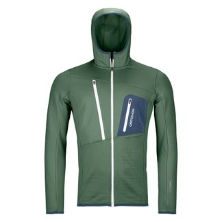 ORTOVOX - Fleece Grid Hoody Men green forest