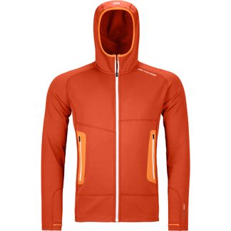 ORTOVOX - Fleece Light Hoody Men desert orange