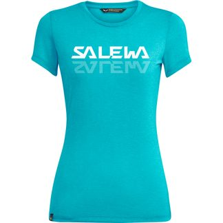 SALEWA - Graphic Dry T-Shirt Damen maui blue melange