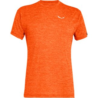 SALEWA - Puez Melange Dry T-Shirt Herren red orange melange