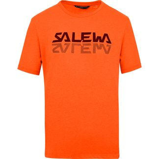 SALEWA - Reflection Dry T-Shirt Herren red orange melange