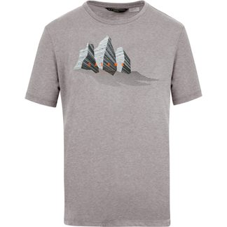 SALEWA - Lines Graphic T-Shirt Herren heather grey