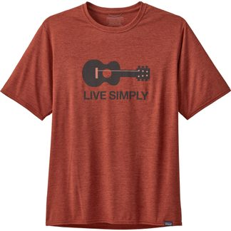 Patagonia - Capilene Cool Daily Graphic T-Shirt Herren live simply guitar roots