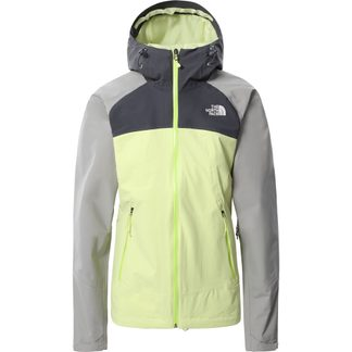 The North Face® - Stratos Jacket Women pale lime yellow vanadis grey