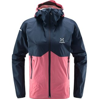 Haglöfs - L.I.M Proof Multi Hardshell Jacket Women tarn blue tulip pink