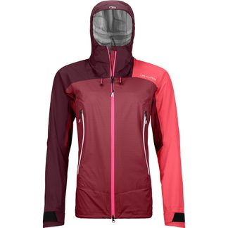 ORTOVOX - Westalpen 3L Light Hardshelljacke Damen dark blood