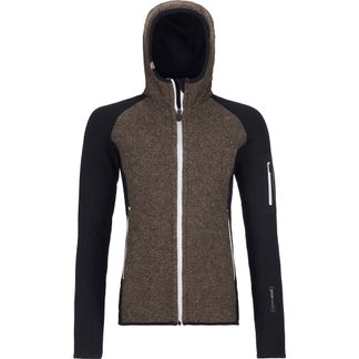 ORTOVOX - Fleece Plus Classic Knit Hoody Women black raven