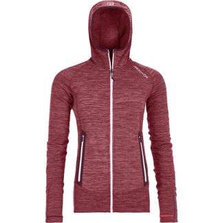 ORTOVOX - Fleece Light Melange Hoody Women dark wine blend