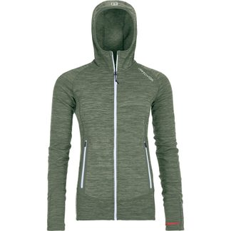 ORTOVOX - Fleece Light Melange Hoody Women green forest blend