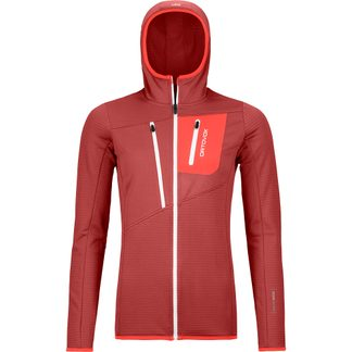 ORTOVOX - Fleece Grid Hoody Women blush