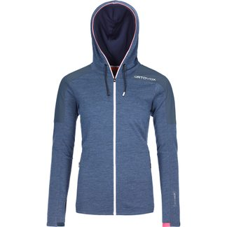ORTOVOX - Merinoterry Hoody Damen blue lake blend