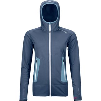 ORTOVOX - Fleece Light Hoody Women night blue