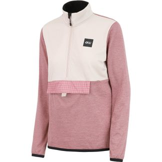 Picture - Tahita Grid Fleece-Pullover Damen ash rose