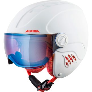 Alpina - Carat LE Visor HM Kids white flamingo matt