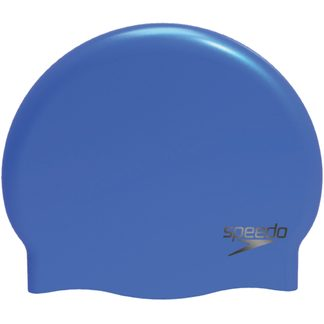 Speedo - Plain Moulded Silicone Cap blue