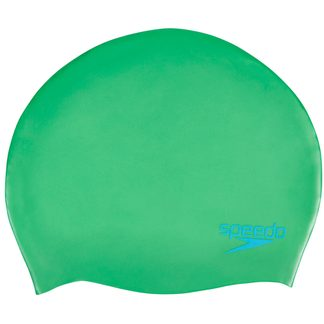 Speedo - Plain Moulded Silicone Junior Cap Kids fake green windsor