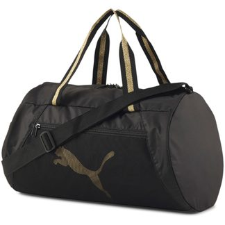 Puma - AT ESS Barrel Bag puma black bright gold