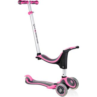 Globber - Evo 4 In 1 Plus Scooter Kinder grey pink