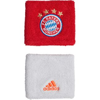 adidas - FC Bayern Wristbands Unisex fcb true red white dash grey