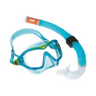 Aqua Lung Sport - Combo Mix Schnorchelset light blue bright green