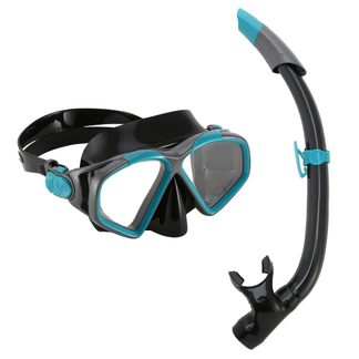 Aqua Lung Sport - Combo Hawkeye Schnorchelset dark green black