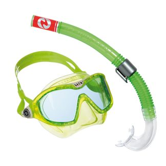 Aqua Lung Sport - Combo Mix Schnorchelset Kinder bright green white