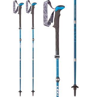 LEKI - Micro Vario Carbon Hiking Pole white blue red