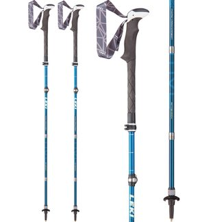 LEKI - Micro Vario Carbon AS Hiking Pole white blue lime