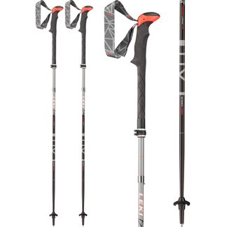 LEKI - Micro Vario TA black light anthracite neon red white