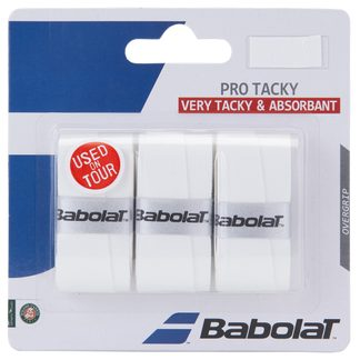 Babolat - Pro Tacky Overgrips Set of 3 white
