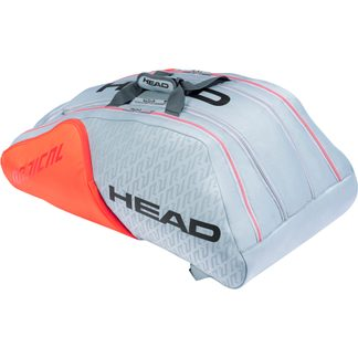 Head - Radical 12R Monstercombi Tennistasche grau orange