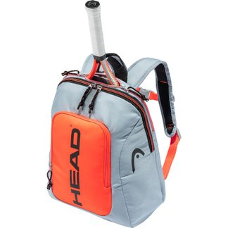 Head - Kids Backpack Rebel Tennisrucksack Kinder grau orange