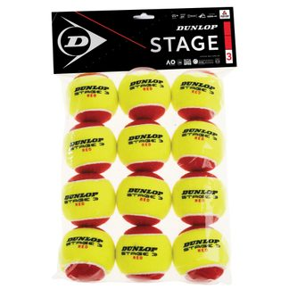 Dunlop - Stage 3 Tennis Balls Set of 12 red