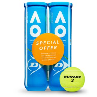 Dunlop - Australien Open Bi Pack Tennis Balls 2x4 yellow