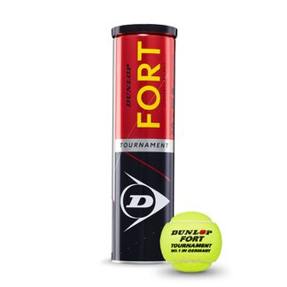 Dunlop - Fort Tournament Tennis Balls Set of 4 yellow