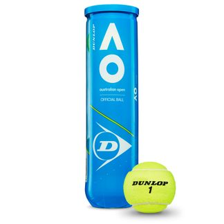 Dunlop - Australian Open Tennis Balls Set of 4 yellow