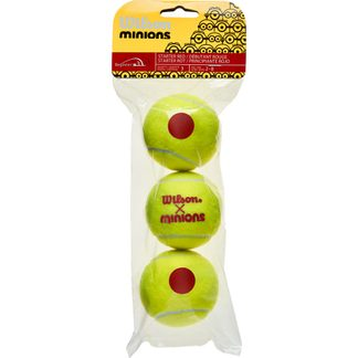 Wilson - Minions Stage 3 Tennis Balls Set of 3 yellow red