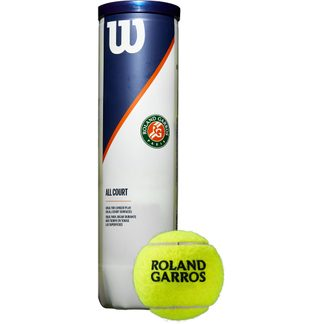 Wilson - Roland Garros All Court Tennis Balls Set of 4 yellow