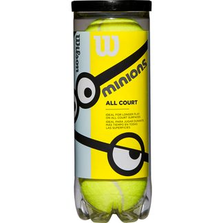 Wilson - Minions Stage 1 Tennis Balls Set of 3 yellow green