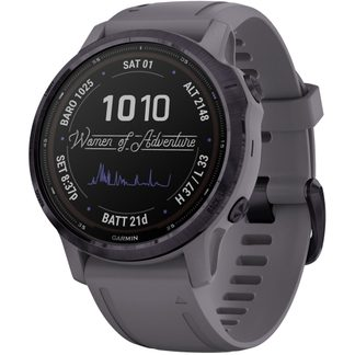 Garmin - fēnix 6S Pro Solar dark grey purple