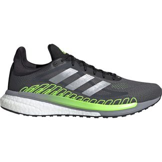 adidas - SolarGlide ST 3 Running Shoes Men grey five silver metallic signal green