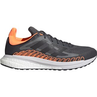 adidas - SolarGlide ST Laufschuhe Herren grey six core black screaming orange