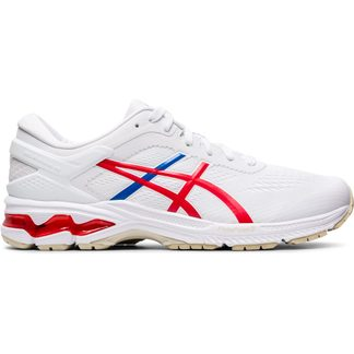 ASICS - Gel-Kayano 26 Running Shoes Men white classic red