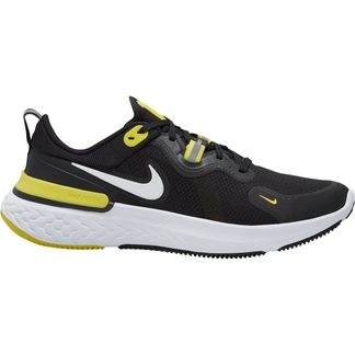 Nike - React Miler Running Shoes Men black white opti yellow dark grey